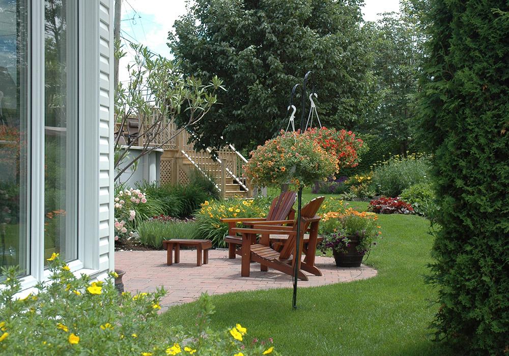 Aménagement cour arrière - Aménagement Jardin & Terrain Sherbrooke