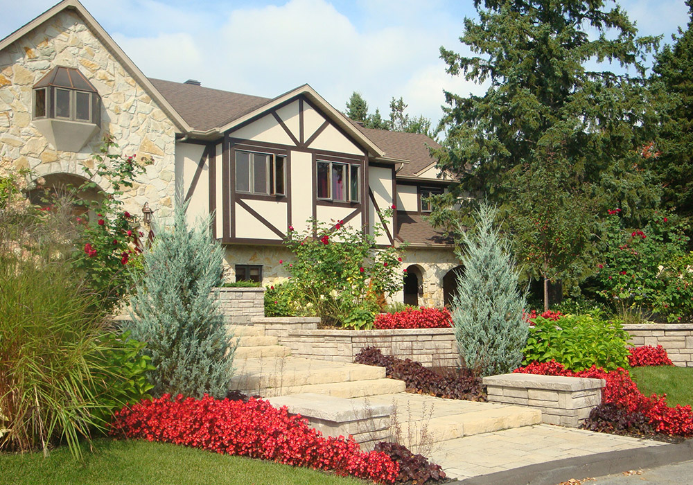 am nagement ext rieur fa ade maison sherbrooke profil On paysagement pour petite facade de maison