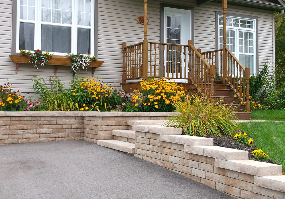 Mur de pierre muret de pierre ext rieur profil jardins sherbrooke - Mur en pierres ap parentes ...