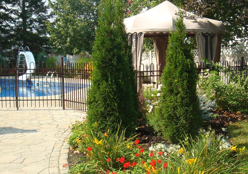 Am nagement cour arri re am nagement jardin terrain - Amenagement cour et jardin ...