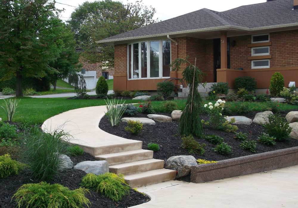 Am nagement ext rieur fa ade maison sherbrooke profil for Decoration jardin villa