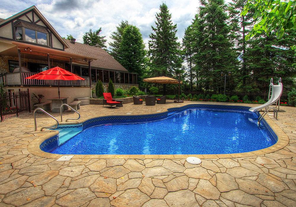 Assez Aménagement paysager piscine creusée - Aménagement Spa & Piscine KD71